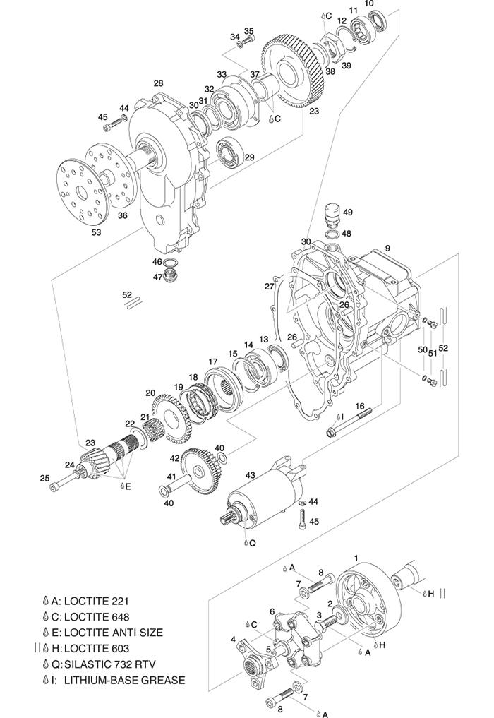"ROTAX 503, 582, 618 UL ENGINE REDUCTION GEARBOX ""E"" : I=2,62, I=3 ..."