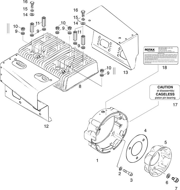 rotax 503 ul engine ignition housing air guides for rotax 503 rebuild manual at 503 Engine Diagram