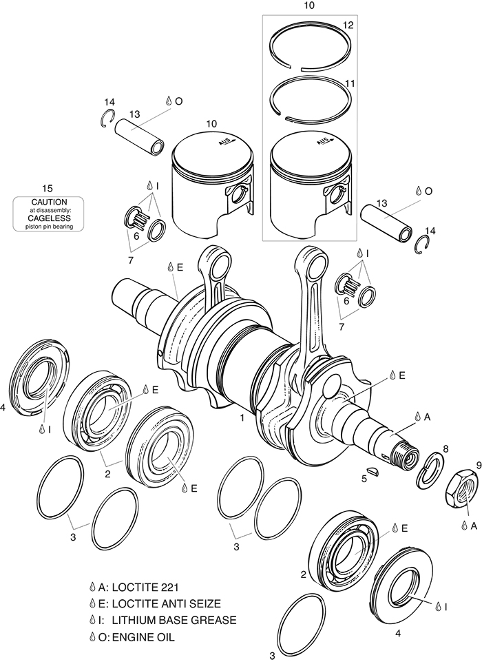 rotax 503 ul crankshaft piston parts from california power systems912 Crankshaft Rotax 914 Crankshaft Rotax Pistons And Parts Diagram #6