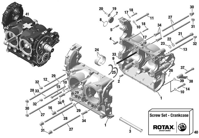 [DIAGRAM_38EU]  ROTAX 912 | 914 UL ENGINE CRANKCASE - FROM S/N: 14.0000 | California Power  Systems | Rotax 912 Engine Diagram |  | California Power Systems