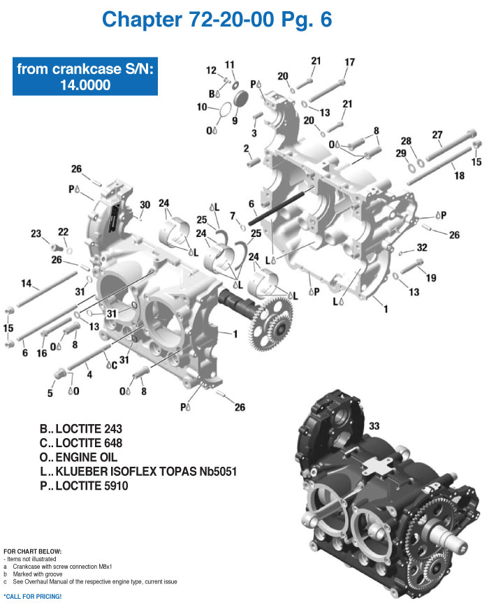 rotax 912is engine crankcase parts from 14 000 from california rh cps parts com Rotax Engine Design Rotax Engine Design
