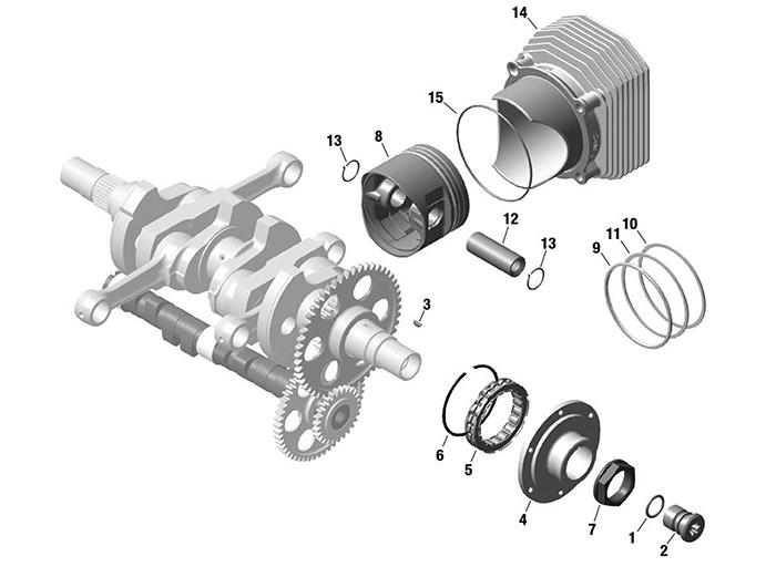 rotax 912is engine crankshaft piston cylinder sprag clutch912 Crankshaft Rotax 914 Crankshaft Rotax Pistons And Parts Diagram #2