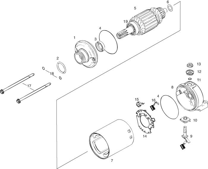 ROTAX 447 | 503 | 582 | 618 UL ENGINE ELECTRIC STARTER-SINGLE ...